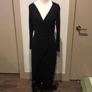 Tobi Open Front Slit Maxi Dress